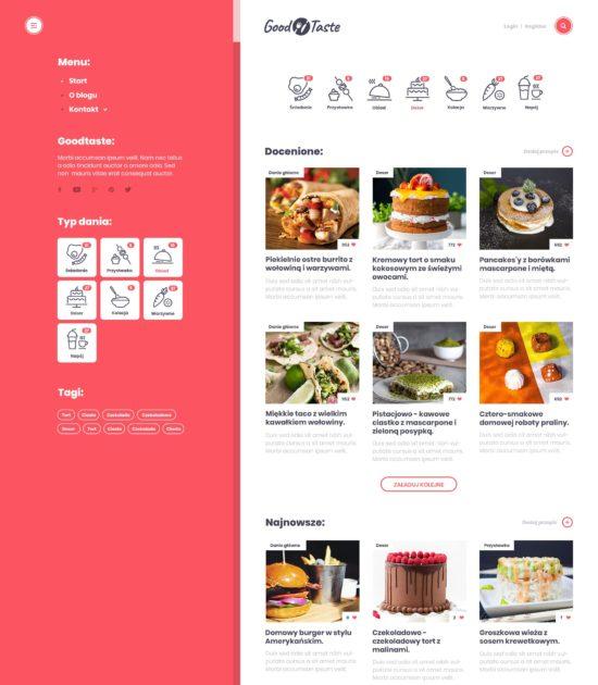 Widok z otwartym menu