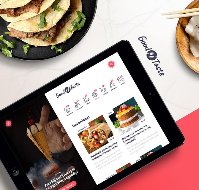 Motyw dla bloga kulinarnego GoodTaste