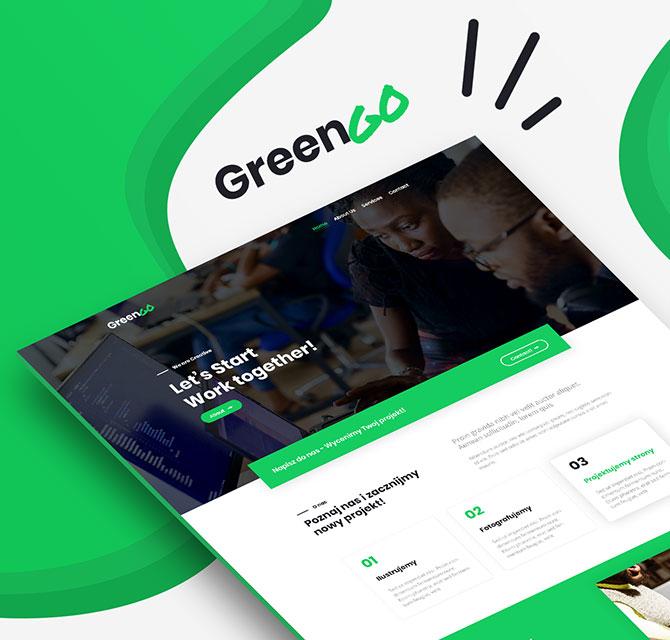 Nowoczesna strona internetowa GreenGo