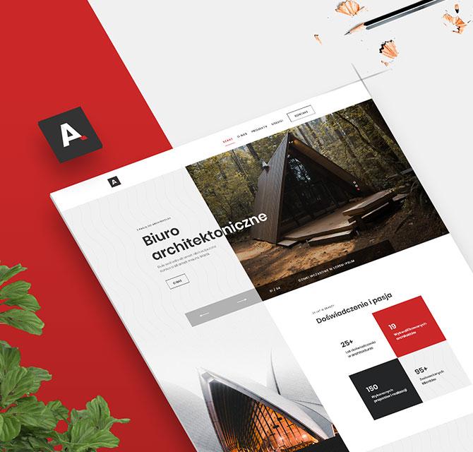 Strona internetowa firmowa Arch&Tech