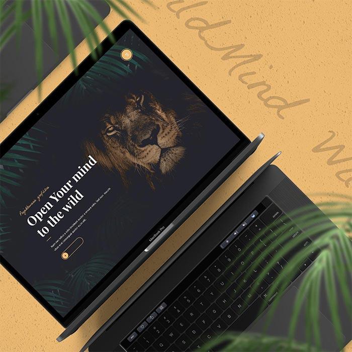 Wild Mind strona www typu portfolio